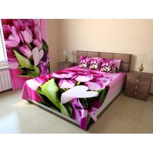 Покрывало Букет розовых тюльпанов