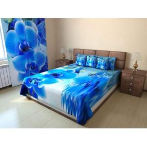 Покрывало Голубая орхидея