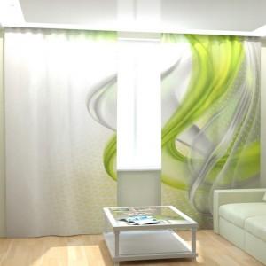 Фотошторы Зеленая абстракция