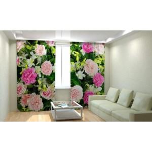 Фотошторы Гвоздики и розы