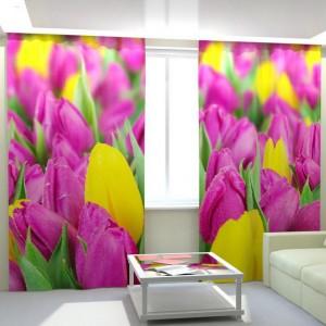 Фотошторы Сиреневые тюльпаны