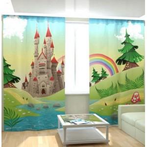 Фотошторы Замок и радуга