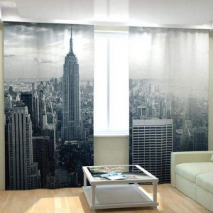 Фотошторы Черно-белый Нью-Йорк