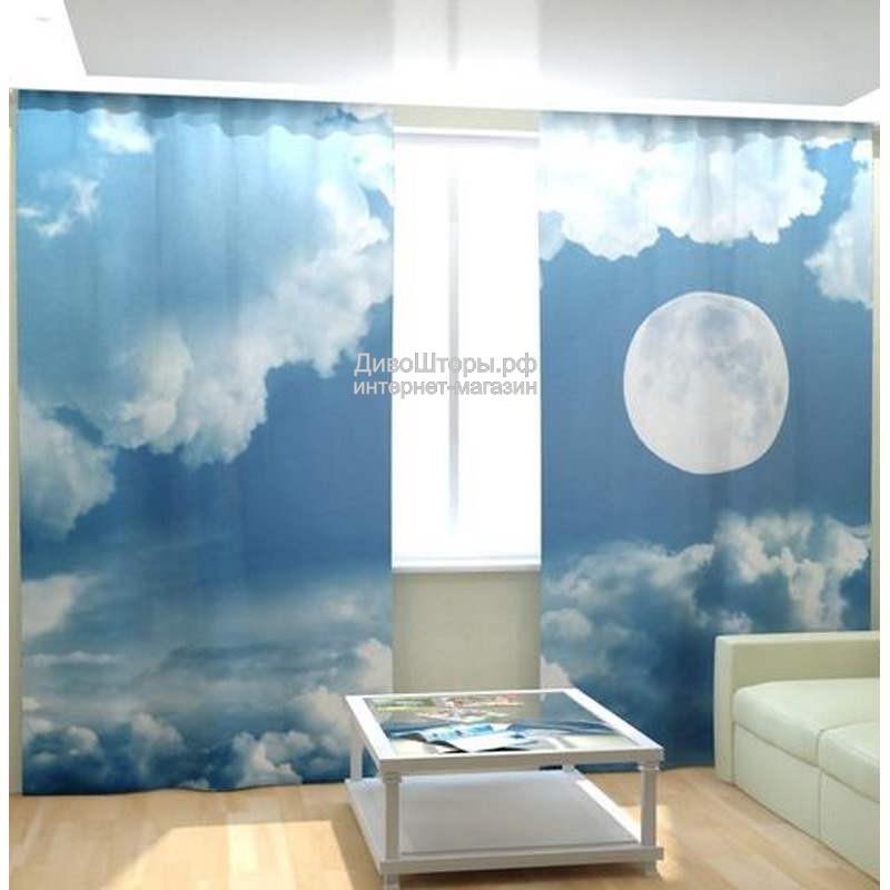 Фотошторы Луна в облаках