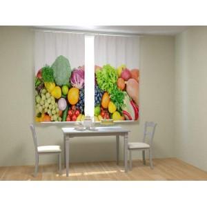 Фотошторы Аппетитные фрукты и овощи