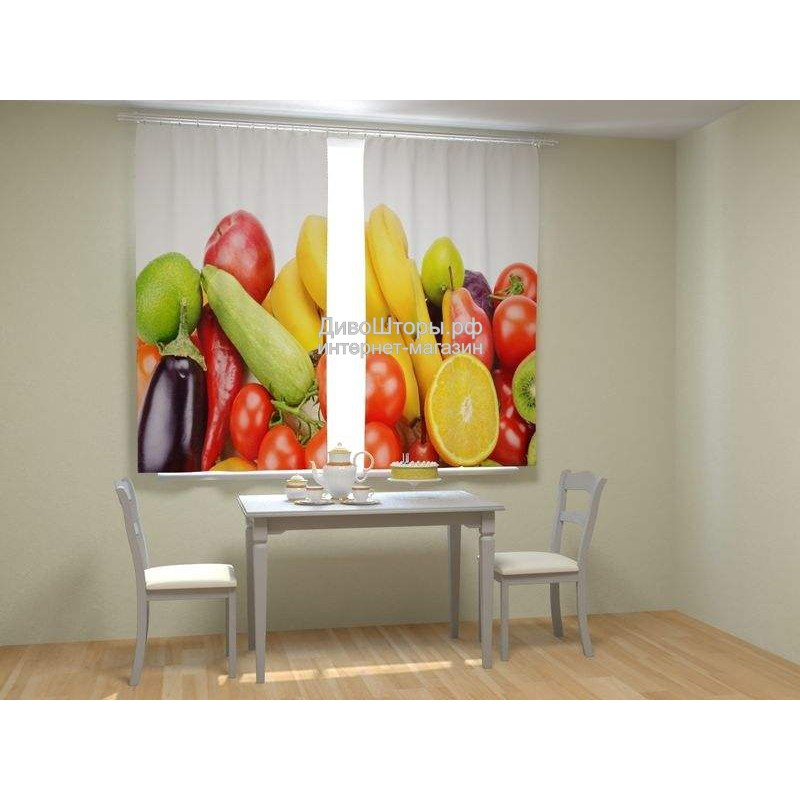 Фотошторы Фрукты и овощи