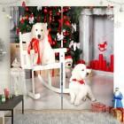 Фотошторы Новогодние щенки