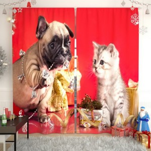Фотошторы Щенок и котенок