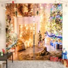 Фотошторы Рождественский мишка