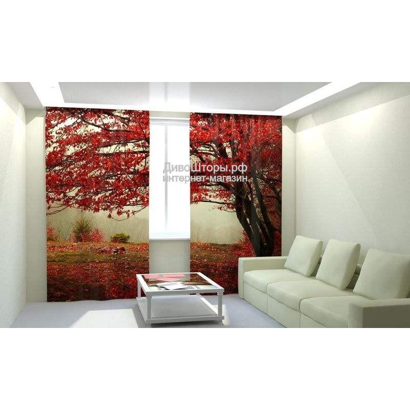Фотошторы Красный листопад