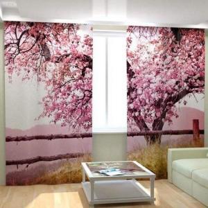 Фотошторы Розовое дерево