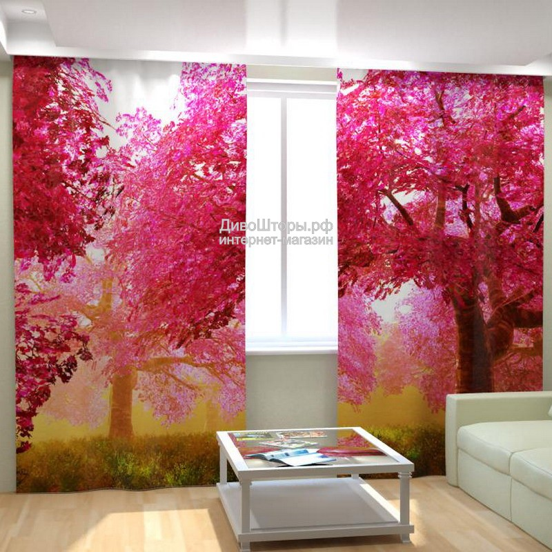 Фотошторы Розовый сад
