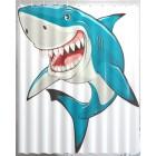 Штора для ванной Акула