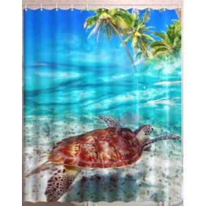 Штора для ванной Черепаха