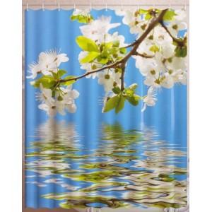 Штора для ванной Цветочное отражение