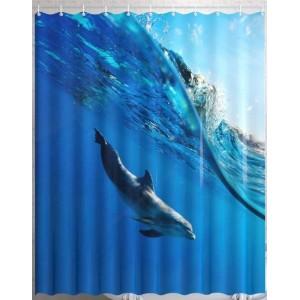 Штора для ванной Дельфин