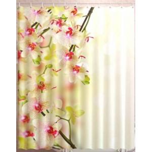 Штора для ванной Орхидея