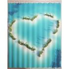 Штора для ванной Остров-сердце