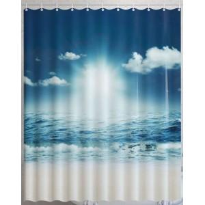 Штора для ванной Солнечные волны