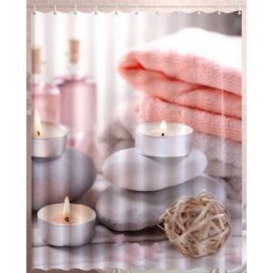 Штора для ванной Свечи