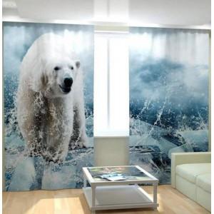 Фотошторы Белый медведь
