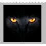 Фотошторы Черный кот 240*240 см из блэкаута
