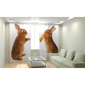 Фотошторы Кролики