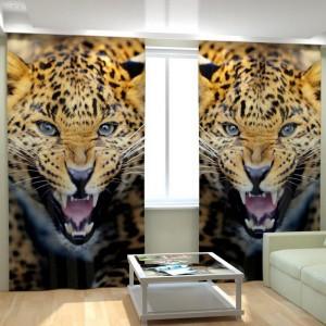 Фотошторы Леопард 240*300 см из блэкаута