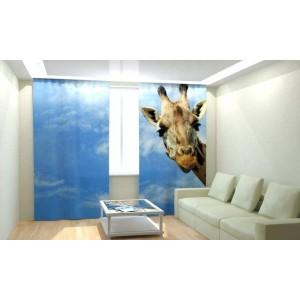 Фотошторы Любопытный жираф