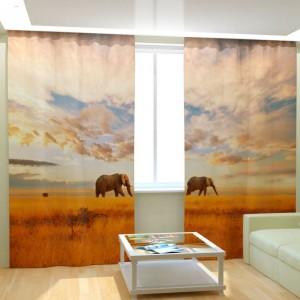 Фотошторы Слоны на прогулке