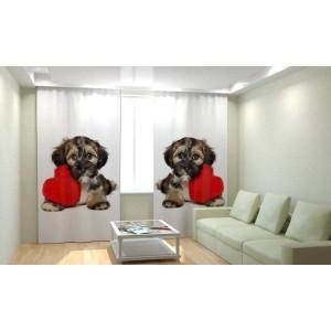 Фотошторы Собака с сердцем