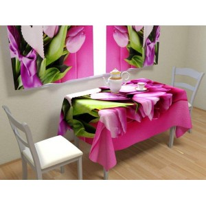Фотоскатерть Букет розовых тюльпанов