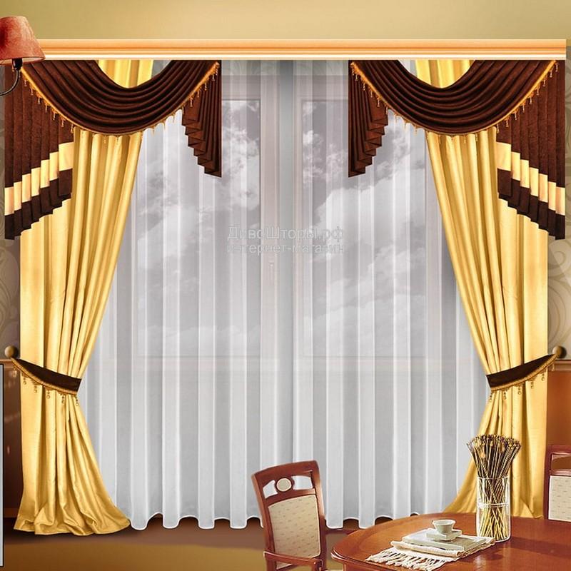 Шторы для гостиной/спальни Аквилерия