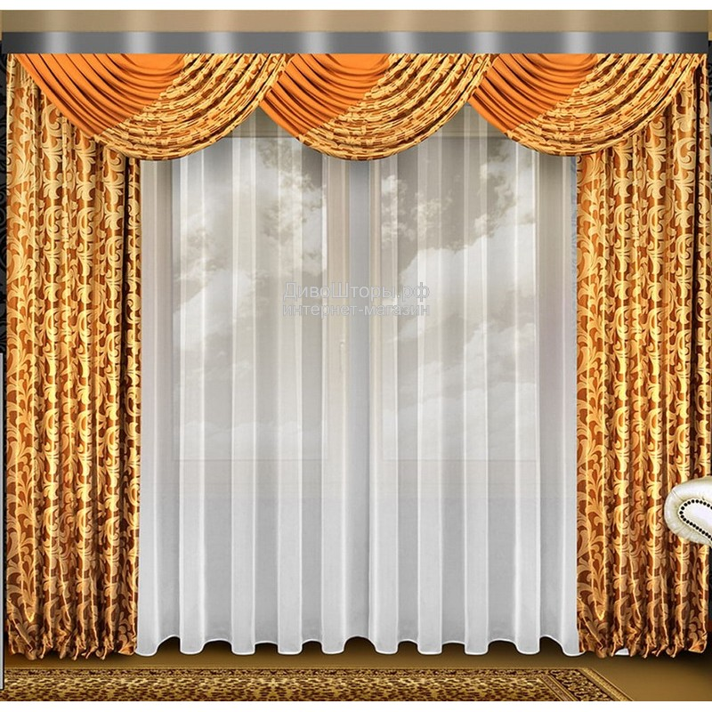 Шторы для гостиной/спальни Исида Блэк