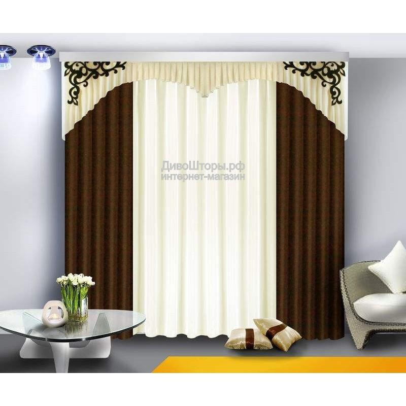 Шторы для гостиной/спальни Лира