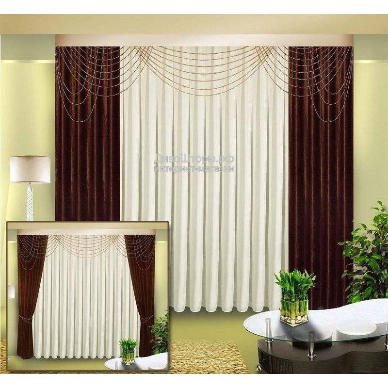 Шторы для гостиной/спальни Пандора